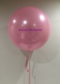"""""""Totally pink and totally Kate"""" #jumboballoon #giantballoon #3footballoon #pinkballoon #largeballoon #helimballoon #act #cbr #canberraballoons #BalloonBrilliance"""