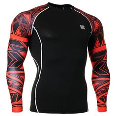 Fixgear Mens Womens Compression Performance Black Base Layer Gear Top S