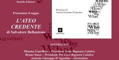 BAGNARA: Venerdì 18 settembre presentazione del libro L'ATEO CREDENTE di Salvatore Bellantone