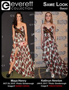 Stunning Ladies, Same Look: Maya Henry and Kathryn Newton in Gucci