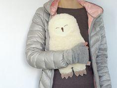 Kissenbezüge - WärmflaschenBEZUG Schneeeule Hedwig - ein Designerstück von Petiti_Panda bei DaWanda