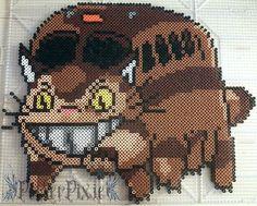 Catbus (Nekobasu) - Totoro perler beads by PerlerPixie on deviantART