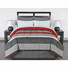 black gray red stripes boys teen queen comforter set 7 piece bed in a bag bedroomastounding striped red black striking