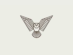 Geometric Owl by Kari Neuberger Popular - eulen - Tattoo Owl Tattoo Design, Tattoo Designs, Minimal Tattoo Design, Minimal Logo, Geometric Owl Tattoo, Geometric Drawing, Geometric Art, Geometric Sleeve, Tattoo Abstract