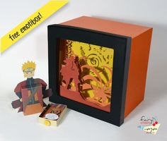 Hey, I found this really awesome Etsy listing at https://www.etsy.com/listing/211277183/naruto-shadow-box-with-light-special