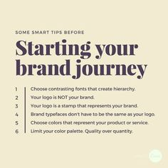 Starting a brand: branding made easy with these simple tips. Personal Branding, Marca Personal, Branding Your Business, Creative Business, Business Tips, Online Business, Corporate Branding, Tshirt Business, Business Logos