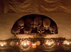Romania * Easter 2014 * Candles burn next to the skulls of dead clerics that served at the monastery before the Easter religious service at the Pasarea Monastery ou. Easter 2014, Easter Religious, Burning Candle, Romania, Skulls, Photo Galleries, Candles, World, Gallery