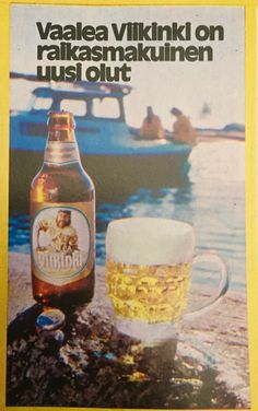 Old Commercials, Corona Beer, Vintage Ads, Beer Bottle, Finland, Drinks, Historia, Drinking, Beverages