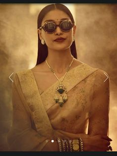 "Emeralds, rose cuts and Basra necklace. Worn with a gaggle of Victorian Diamond bracelets and a ""chiriya"" necklace. India Jewelry, Gold Jewelry, Beaded Jewelry, Trendy Jewelry, Sabyasachi Collection, Engraved Bracelet, Indian Wedding Outfits, Wedding Dress, Indian Designer Outfits"