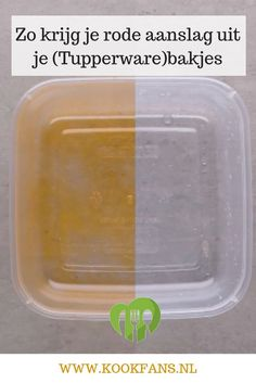 This way you get red deposits from your (Tupperware) containers - This way you get red deposits from your (Tupperware) containers.