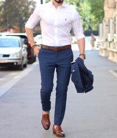 Casual outfit for men cc: menwithclass ig Trendy Mens Fashion, Stylish Mens Outfits, Mens Fashion Suits, Look Fashion, Parisian Fashion, Bohemian Fashion, Cheap Fashion, Fashion Clothes, Fashion Boots