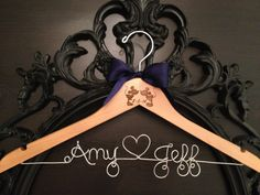 Mickey & Minnie Wedding Hanger Disney Bridal Hanger by GetHungUp, $35.00 @srichman821  i need this!