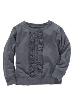 Broderie Frill Front Sweater (3mths–6yrs) from the Next UK online shop