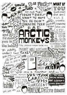 ARCTIC MONKEYS Favourite Worst Nightmare Lyrics Compilation Poster