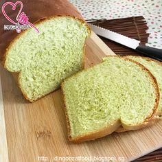 Miki's Food Archives : Soft Pandan Loaf 斑斓软面包,中种面团