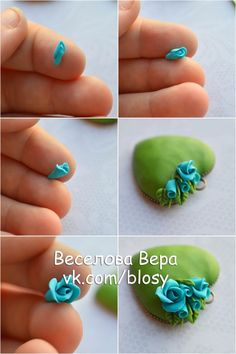 Tiny heart flower picture tute.  #Polymer #Clay #Tutorials