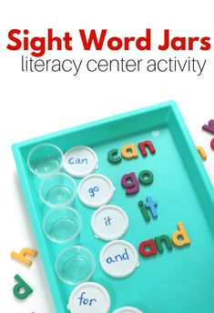 Sight Word Activity – Sight Word Jars – No Time For Flash Cards Sight word activity for kindergarten literacy centers with magnetic letters. This sight words activity is great for kindergarten. Kindergarten Lesson Plans, Kindergarten Centers, Preschool Literacy, Homeschool Kindergarten, Kindergarten Reading, Kindergarten First Day, Homeschooling, Preschool Sight Words, Teaching Sight Words