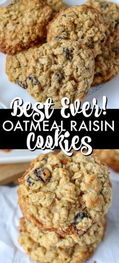 These BEST Oatmeal Raisin Cookies are a staple in any cookie jar. Soft and chewy These BEST Oatmeal Raisin Cookies are a staple in any cookie jar. Soft and chewy in the middle with a crisp edge these cookies are the perfect treat! Best Oatmeal Raisin Cookies, Chocolate Chip Shortbread Cookies, Toffee Cookies, Oatmeal Cookie Recipes, Spice Cookies, Chip Cookies, Cookies Et Biscuits, Recipe For Chewy Oatmeal Raisin Cookies, Crack Crackers