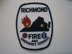 Fire Department Patch-Richmond Virginia Fire and Emergency Services in U.S. | eBay