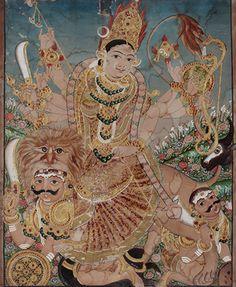 natesan's antiqarts deals in centuries old Indian antiques like chola bronzes, miniature paintings, stone sculptures, wood carvings, tanjore paintings. Mysore Painting, Kerala Mural Painting, Tanjore Painting, Indian Traditional Paintings, Indian Art Paintings, Traditional Art, Indian Folk Art, Krishna Art, Hindu Art
