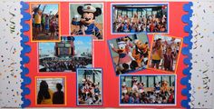 Partying with new friends on the deck. #disney #cruise #scrapbook #layout #mickeyandfriends
