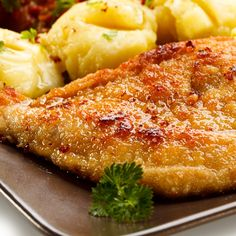 This coated baked chicken breast recipe is easy to make and goes well with roasted potatoes.. Coated Baked Chicken Breast Recipe from Grandmothers Kitchen.