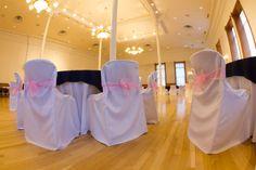 Wedding setup for Provo City Library Ballroom.
