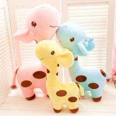 Ideal Baby Kids Lovely Birthday Gift Cartoon Giraffe Dear Soft Plush Toy Animal Dolls sweetboutiqueu