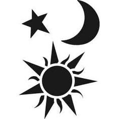 sun and moon stencils | Found on justscrapping.co.nz