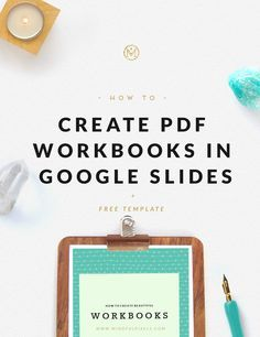 Bloggers and infopreneurs: Did you know you can Create PDF Workbooks in Google Slides? Click through to learn how!
