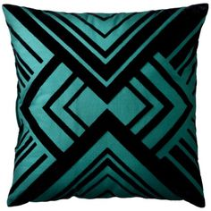 Patch Geometric Pillow - It would be fun to do something like this. Quilt square style pillow.