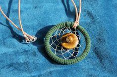 Traumfänger Halskette  - Tigeraugen KETTE    Eine ausgefallene Halskette - mit einem Dreamcatcher - Traumfänger kombiniert.