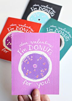 DIY Valentines Printables - Valentines Printable Craft Project - Valentine Donuts Cards | Small for Big