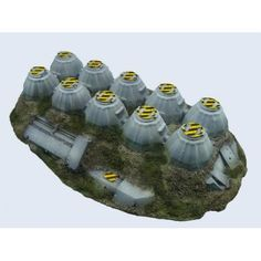 The link doesn't work right now but it looks like an upside down egg box with some additions, so inspiration. Warhammer Terrain, 40k Terrain, Game Terrain, Wargaming Terrain, Warhammer 40k Figures, Warhammer 40000, Junk Modelling, Infinity The Game, Minis