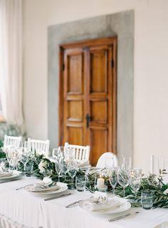 Gorgeous Organic Tuscany Wedding - Once Wed Reception Table, Wedding Table, Wedding Reception, Luxury Wedding Venues, Destination Wedding, Intimate Weddings, Real Weddings, Diy Wedding Decorations, Table Decorations