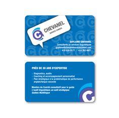 Carte professionnelle pour Chevanel Service Conseil Design par Cyan Concept facebook.com/cyanconcept.graphisme www.cyan-concept.com