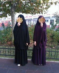 me & frend Hijab Dp, Muslim Hijab, Hijab Chic, Hijab Dress, Cute Muslim Couples, Muslim Girls, Mode Abaya, Mode Hijab, Hijabi Girl