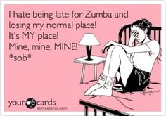"Ways to deal with students saving ""their spot"" in your Zumba class."