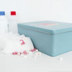 Caja metálica wonder - El tiempo lo cura todo #mrwonderful #blue #caja