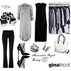 Aminah´s Hijab Diary #hijab #modest #fashion #style #outfit #businesslook #black #silver #ginatricot