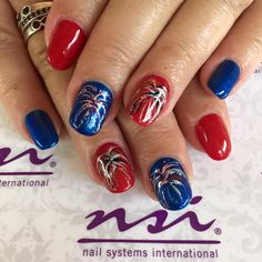 Fireworks Nails! Love them for the 4th of july!