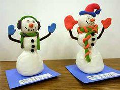 Model Magic Snowmen - Art Pound Blog