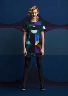 Marimekko's winter 2014 collection Cozy Fashion, Fashion Beauty, Autumn Fashion, Fashion Outfits, Womens Fashion, Marimekko Dress, Design Textile, We Wear, How To Wear