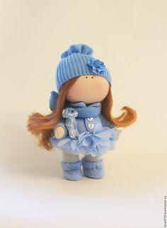 Купить Голубая феечка - голубой, феечка, кукла ручной работы, интерьерная кукла, кукла в подарок
