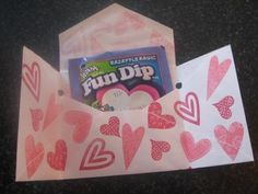 How to make a big or legal sized envelope into an inexpensive and easy Valentine.