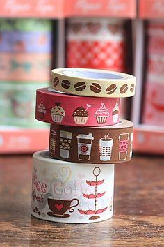 Coffee and cupcakes washi tape set