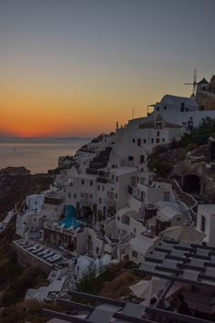 Sunset from Oia - Santorini, Greece