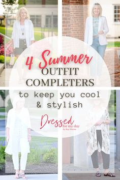 Summer Outfit Completers to keep you cool and stylish - outfit completers for women over 50 - Summer Style Inspiration - summer outfits for women over 50 Stylish Dresses, Stylish Outfits, Fashion Outfits, Womens Fashion, Keep Your Cool, Summer Outfits, Spring Summer Fashion, Classic Style, Linen Blazer