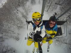 The Network: POD - Relax on chair lift Winter Pictures, Cool Pictures, Cool Photos, Gopro Photography, Photography Sites, Snowboarding Photography, Gopro Drone, Snowboarding Style, Ski Girl