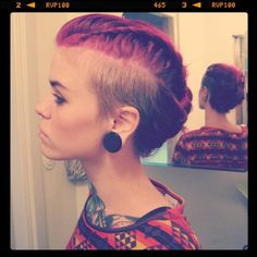 braided red mohawk